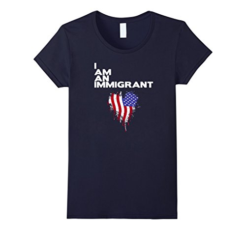 Women's I am an Immigrant TShirt Refugees Welcome Top Resist XL - Ban Re