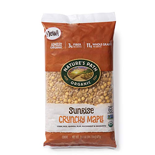 Nature's Path Sunrise Crunchy Maple Cereal, Healthy, Organic, Gluten-Free, 23.8 Ounce Bag ()
