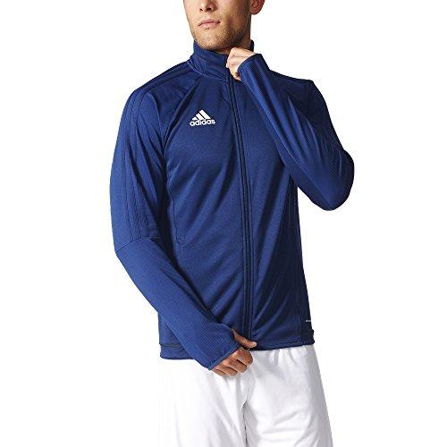 Adidas Tiro 17 Mens Soccer Training Jacket L Dark Blue-Dark Grey-White