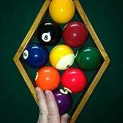 Amazon.com: Nine Ball Rack con acabado en roble de billar ...