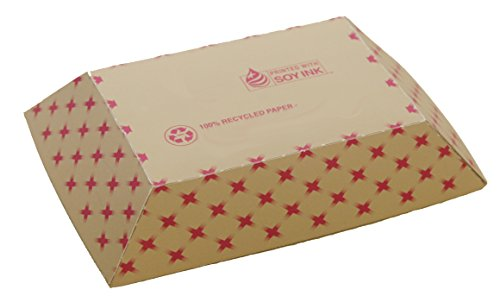 A World of Deals Tray #200 ECO Kraft Paperboard Food Tray, 2-lb Capacity (Pack of 250) -