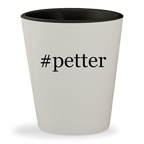 #petter - Hashtag White Outer & Black Inner Ceramic 1.5oz Shot (Petter Pan Costume)