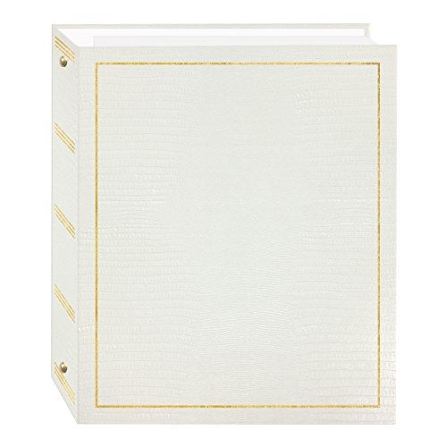 Magnetic Self-Stick 3-Ring Photo Album 100 Pages (50 Sheets), White