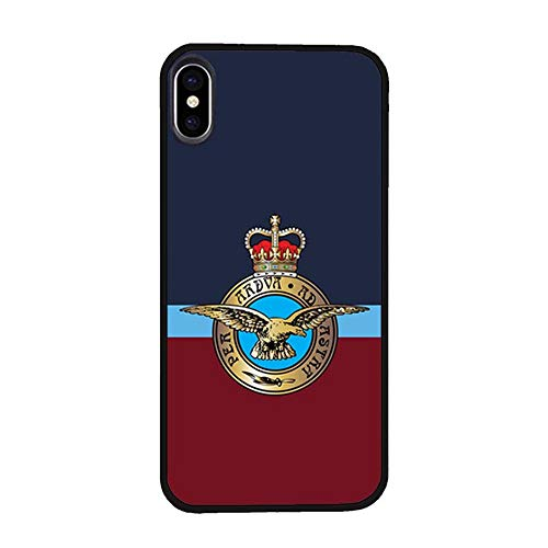 Skinsends Hippie UK Royal Air Force Phone Cover Compatible with iPhone Xs, Hard Plastic Back Case Cover Compatible with iPhone X/Xs ()