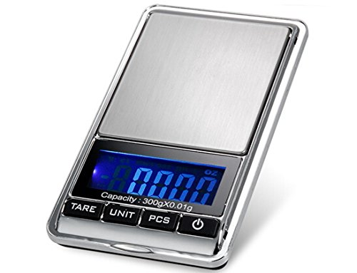 TBBSC Smart Weigh Scale High Precision Digital Jewelry Pocket Scale 300g/0.01g Reloading,Kl-16 (Pocket Digital 300)