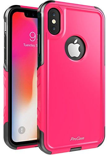 ProCase iPhone Xs Case/iPhone X Case, Slim Hybrid Protective Cover Shockproof Bumper Case for 5.8 inch Apple iPhone Xs (2018) / iPhone X (2017) -Pink