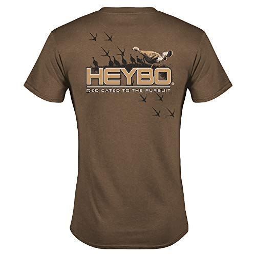 Heybo Turkey Tracks S/S Brown T-Shirt (XX-Large)