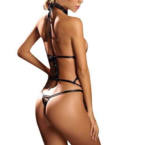 Jumpsuit Underwear Strappy Clubwear Lingerie Women Black BoodTag Semitransparent wx8X6X