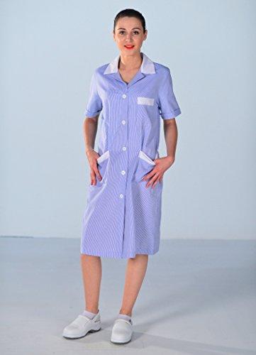 Femme Ménage Blouse Mylookpro Travail De Bleue Rxtqc7Pw7Z