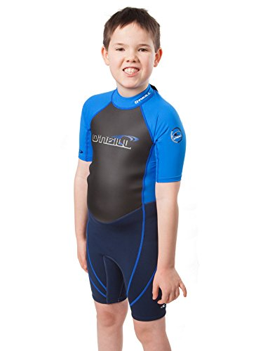 (O'Neill Reactor Hybrid Kids Shorty Wetsuit 10 Navy/Ocean Blue)