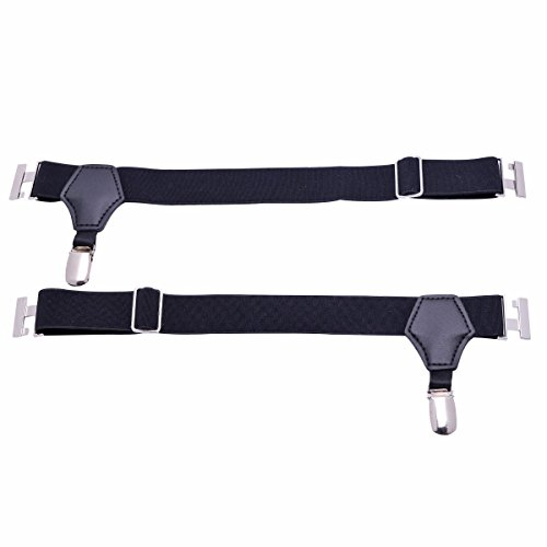 iEFiEL Men's Non-slip Sock Garters Belt Suspender with Double Clips Black One Size by iEFiEL (Image #3)