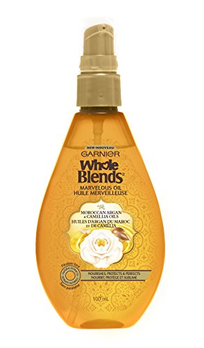 Garnier Whole Blends Moroccan Argan Camillia Illuminating Oil 3.4 Ounce (Argan Oil Blend)