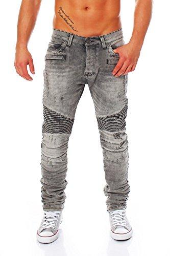 Redbridge by CIPO&BAXX Röhrenjeans Skinny Jeans Vintage Look Waschung M4039 grau