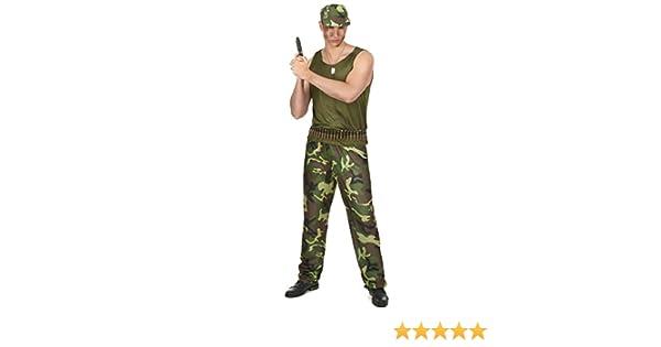 Generique Disfraz militar hombre Única: Amazon.es: Juguetes y juegos