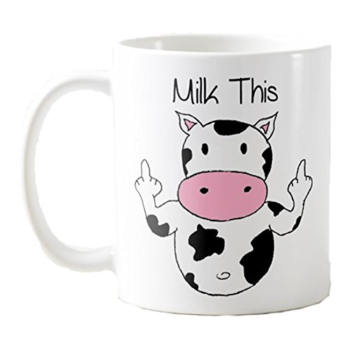 Tee Shirt Galaxy - Cow Coffee Mug - Funny Cow Mug - Funny Gift For Friends - Milk This- Cow Mug (11 oz)