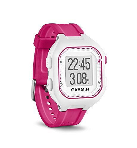 Garmin Forerunner 25, Small - White and Pink (Renewed) by Garmin