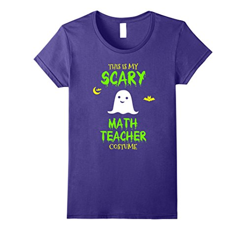 Womens Scary Math Teacher Costume Halloween T-Shirt Medium Purple