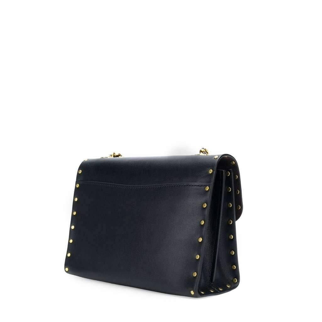 75c27edcd Coach Rivets Parker 18 Black Leather Shoulder Bag Black Leather:  Amazon.co.uk: Shoes & Bags