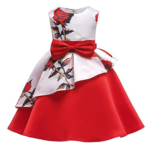 Kids Dresses for Girls Baby Stripe Tutu Dress Princess Party Dress Girls for 2-10 Year Girls Dress,As Picture12,6 ()