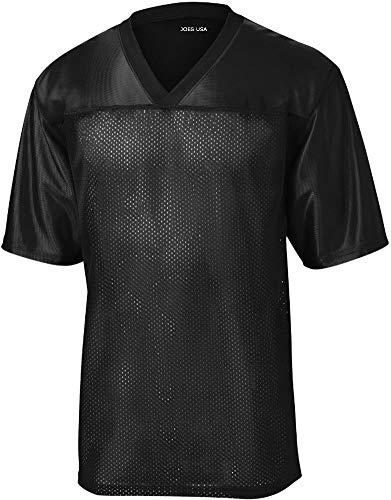 - Joe's USA Mens Replica Athletic Football Jersey-Black-4XL