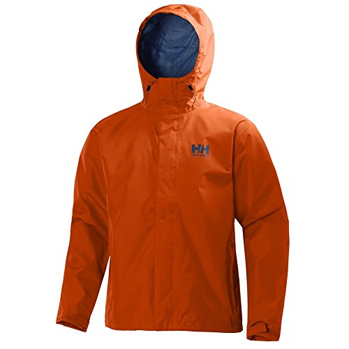 Helly Hansen Men's Seven J Rain Shell Jacket, Magma, Small by Helly Hansen