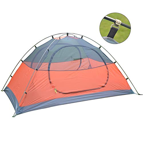 DESERT & FOX Backpacking Camping Tent, Lightweight 1-3 Person Double Layer Waterproof Portable Travel Tents for Camping, Hiking