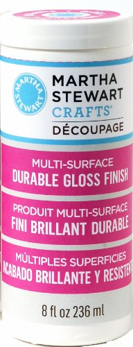 Martha Stewart Crafts Decoupage Formula (8-Ounce), 33276 Gloss Finish