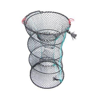 eDealMax Crabe Double entrée en Nylon Filet de pêche Noir Vert