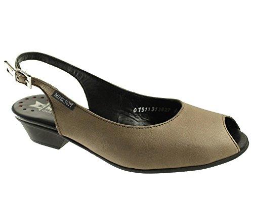 Mephisto-Chaussure Sandale-CORELIA Taupe nubuck 6565-Femme