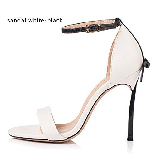Sko Tynde 10 Cm Hvid Hæle Kvinder Sandaler Vivioo Cm Bowtie Fest Bryllup Kvalitet Cm 8 Sandal 12 Hæl sort Høj Høj HxqI67