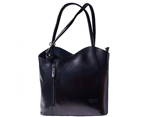 Florence Leather zaino borsa, Black (nero) - 207
