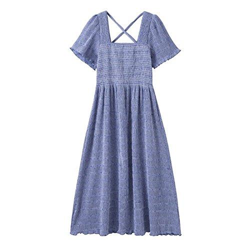 130 Royal Taille Longues Haute froiss crme Jupes a Bleu 115 Manches Femmes Jin Retro Manches suggr L MiGMV Courtes Jin Robes BRqaYpwx