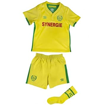 Fc Nantes Home Mini Kit 20162017 Child Amazoncouk Sports Outdoors