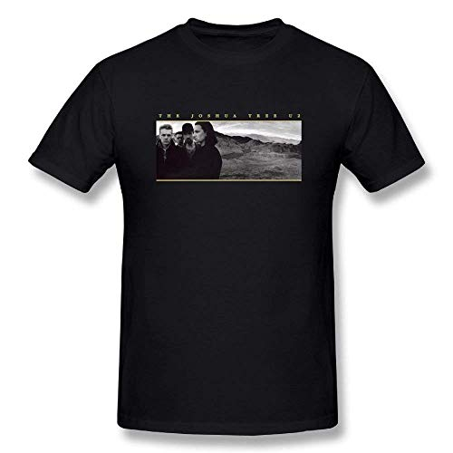 Berrte Men's U2 The Joshua Tree Cotton Tshirt Black, used for sale  Delivered anywhere in USA