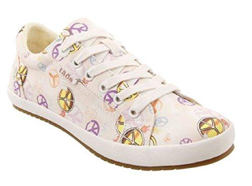 Taos Footwear Women's Star Fashion Sneaker Pink/Yellow Peace Print buy cheap tumblr footlocker cheap price great deals tR4iBwSP
