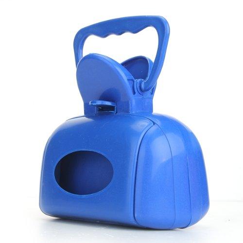 FACILLA® Pince Ramasse Excréments Crottes Déjection Chien Chat Poop Scooper Dog Bleu