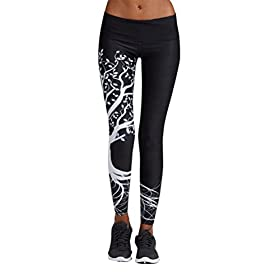 Women Leggings Gillberry Women Sports Trousers Athletic Gym Workout Fitness Yoga Leggings Pants M Black