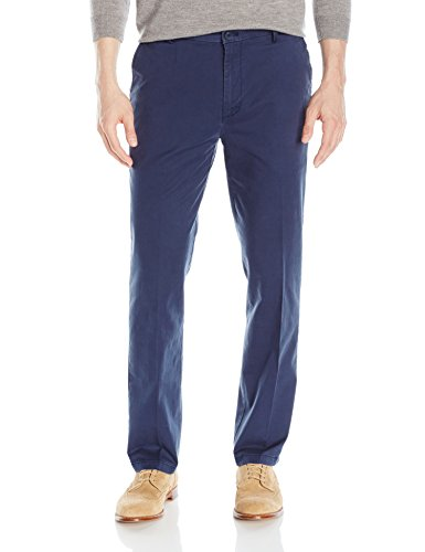 IZOD Men's Saltwater Stretch Chino, Cadet Navy, 34W x 32L