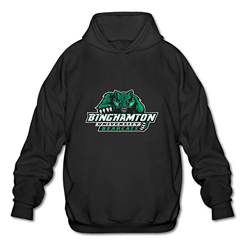 Fanlig Men's Binghamton University Workout Hoodie Sweatshirt Black
