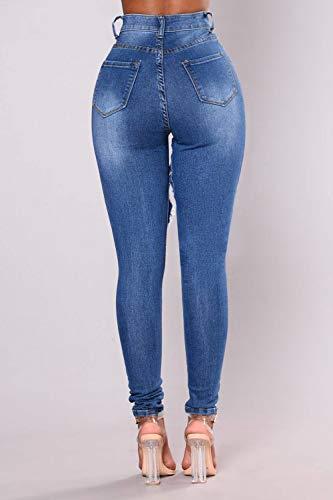 Taglia Donne Yulinge Tasca Blu Jeans Strappati Con Le Destoryed 4qfwq1T