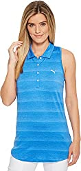 Puma Golf Women's 2018 Racerback Polo, Nebula Blue, Medium