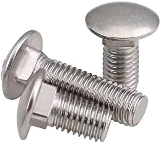 18-8 Stainless Steel Hex Small Parts FSC516234CBSS Round Square-Neck Carriage Bolt Pack of 10 2-3//4 Long 5//16-18 Thread Size