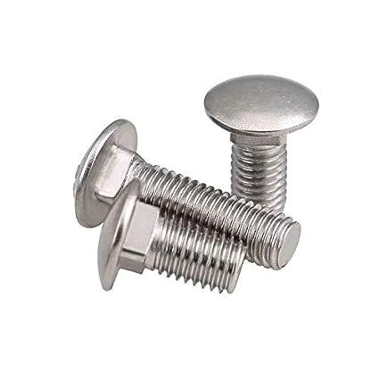 2 tornillos de cabeza redonda M10 x 20 mm de acero ...