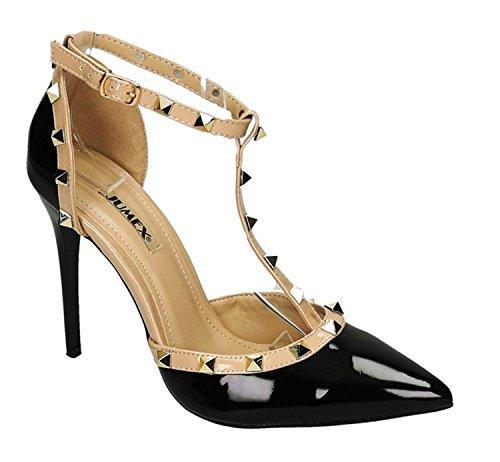 alla King Caviglia Of Nero Cinturino Shoes Donna ttngZq