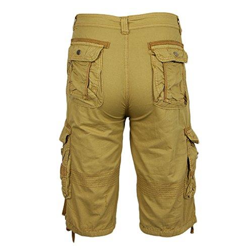 Army Cargo Cool Fityle Caqui Shorts Sueltos Bolsillo Cortos De Para Baggy Casuales Hombres Pants Pantalones XwqIOSq