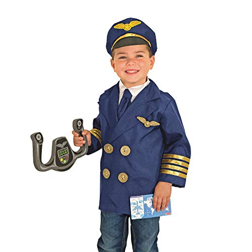 Melissa & Doug Pilot Role Play Costume Set (Dress-Up Pretend Play, 6 Pieces, Great Gift for Girls and Boys - Best for 3, 4, 5, and 6 Year Olds) from Melissa & Doug
