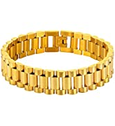 U7 Men Wrist Link Bracelet Punk Jewelry Stainless Steel 15MM Chunky Chain Bracelet Wristband, wit...