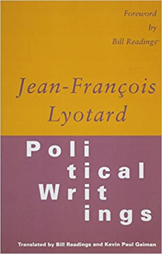 Political Writings JeanFrancois Lyotard Bill Readings Kevin Paul - Free billing invoice template pioneer woman mercantile online store