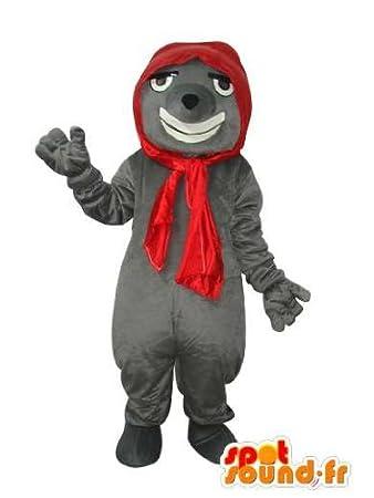 Traje gris ratón con pañuelo rojo: Amazon.es: Juguetes y juegos