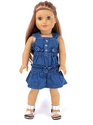 18 Inch Doll Clothes – Denim Dress- American Girl *DOLL IS NOT INCLUDED*